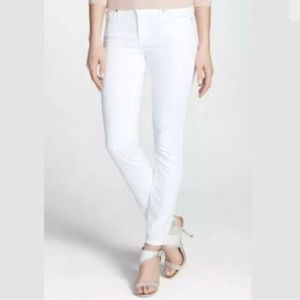Joie White Mid-Rise Skinny Jeans